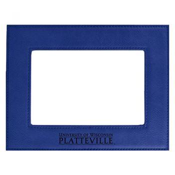 University of Wisconsin-Platteville-Velour Picture Frame 4x6-Blue