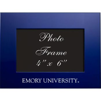 Emory University - 4x6 Brushed Metal Picture Frame - Blue
