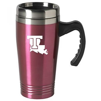 Louisiana Tech University-16 oz. Stainless Steel Mug-Pink