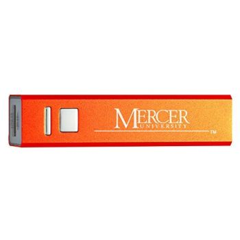 Mercer University - Portable Cell Phone 2600 mAh Power Bank Charger - Orange