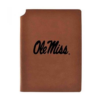 University of Mississippi Velour Journal with Pen Holder|Carbon Etched|Officially Licensed Collegiate Journal|