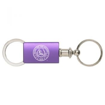 Prairie View A&M University - Anodized Aluminum Valet Key Tag - Purple