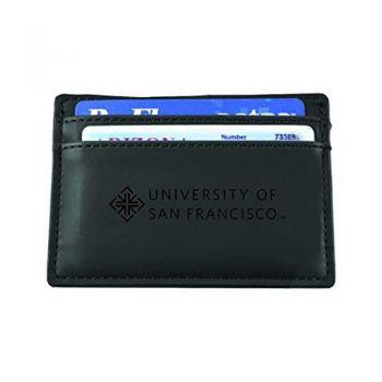 University of San Francisco-European Money Clip Wallet-Black