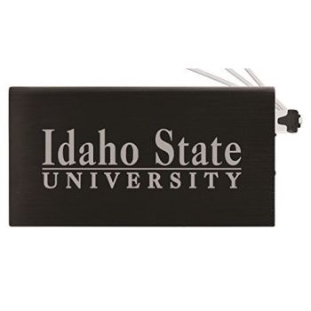8000 mAh Portable Cell Phone Charger-Idaho State University -Black