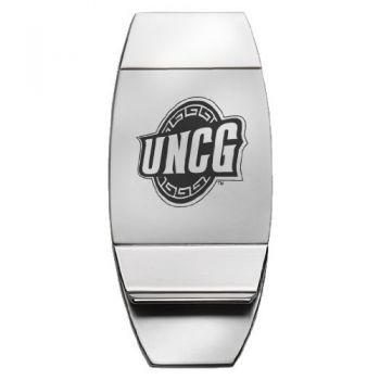 University of North Carolina at Greensboro - Two-Toned Money Clip - Silver