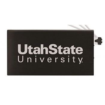 8000 mAh Portable Cell Phone Charger-Utah State University -Black