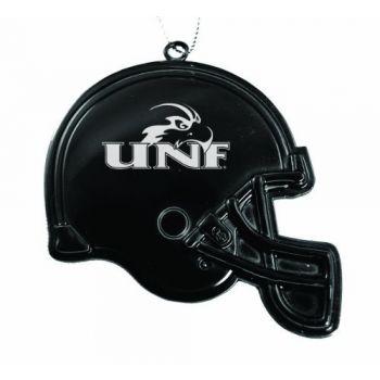 University of North Florida - Chirstmas Holiday Football Helmet Ornament - Black