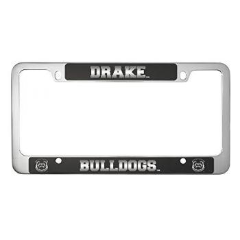 Drake University-Metal License Plate Frame-Black