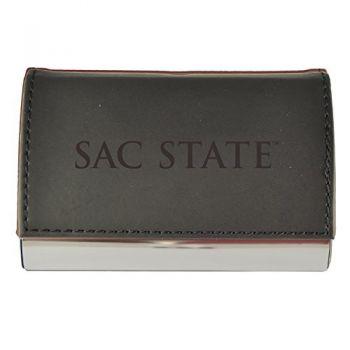 Velour Business Cardholder-California State University-Black
