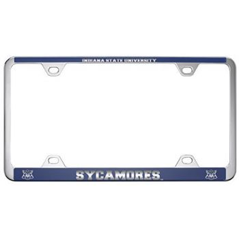 Indiana State University -Metal License Plate Frame-Blue