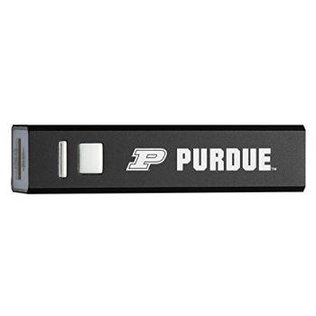 Purdue University - Portable Cell Phone 2600 mAh Power Bank Charger - Black