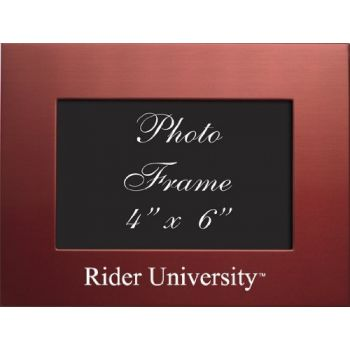 Rider University - 4x6 Brushed Metal Picture Frame - Red