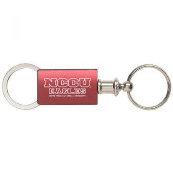North Carolina Central University - Anodized Aluminum Valet Key Tag - Burgundy