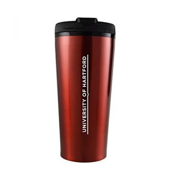 University of Hartford-16 oz. Travel Mug Tumbler-Red