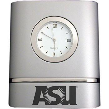 ASU Sun Devils- Two-Toned Desk Clock -Silver