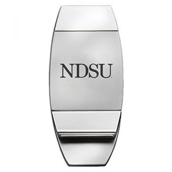 North Dakota State University - Two-Toned Money Clip - Silver
