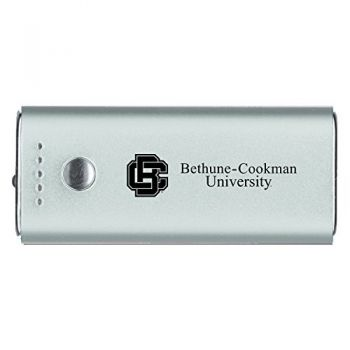 Bethune-Cookman University-Portable Cell Phone 5200 mAh Power Bank Charger -Silver