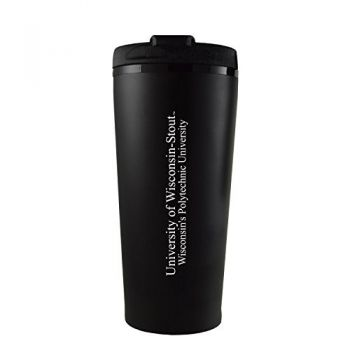 University of Wisconsin-Stout-16 oz. Travel Mug Tumbler-Black