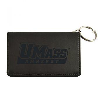 Velour ID Holder-University of Massachusetts, Amherst-Black