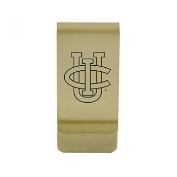 University of California, Davis|Money Clip with Contemporary Metals Finish|Solid Brass|High Tension Clip to Securely Hold Cash, Cards and ID's|Silver