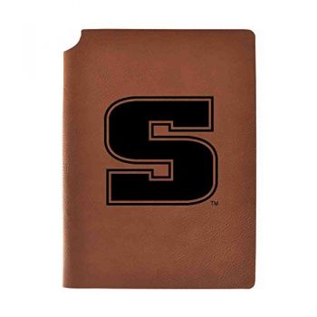 Slippery Rock University Velour Journal with Pen Holder|Carbon Etched|Officially Licensed Collegiate Journal|