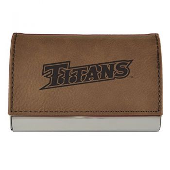 Velour Business Cardholder-California State University Fullerton-Brown