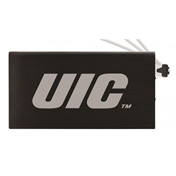 8000 mAh Portable Cell Phone Charger-University of Illinois at Chicago-Black