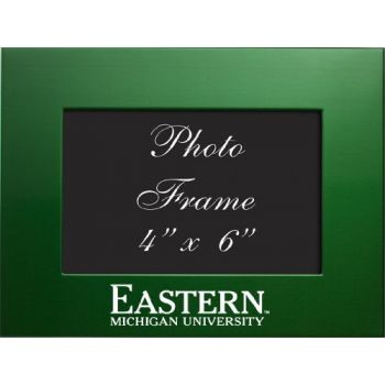 Eastern Michigan University - 4x6 Brushed Metal Picture Frame - Green