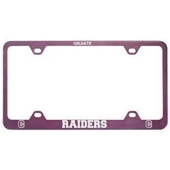 Colgate University -Metal License Plate Frame-Pink