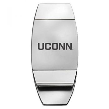 University of Connecticut - Two-Toned Money Clip - Silver