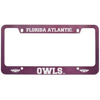 Florida Atlantic University -Metal License Plate Frame-Pink