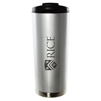 Rice University-16oz. Stainless Steel Vacuum Insulated Travel Mug Tumbler-Silver