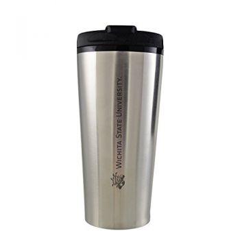 Wichita State University -16 oz. Travel Mug Tumbler-Silver