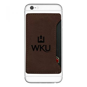 Western Kentucky University-Cell Phone Card Holder-Brown