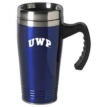University of Wisconsin-Platteville-16 oz. Stainless Steel Mug-Blue
