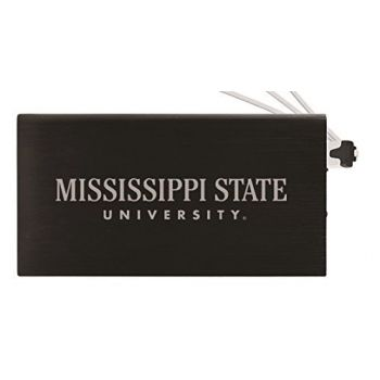 8000 mAh Portable Cell Phone Charger-Mississippi State University -Black