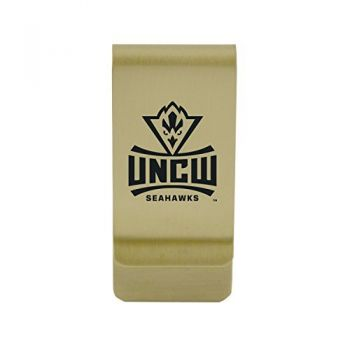 University of North Carolina at Greensboro|Money Clip with Contemporary Metals Finish|Solid Brass|High Tension Clip to Securely Hold Cash, Cards and ID's|Silver