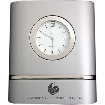 University of Central Florida- Two-Toned Desk Clock -Silver