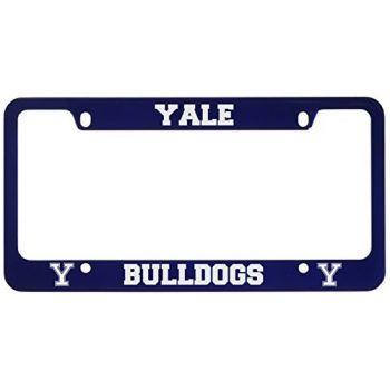 Yale University -Metal License Plate Frame-Blue