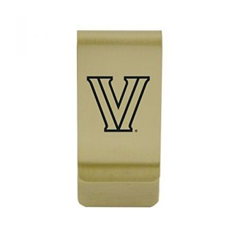 Virginia Tech|Money Clip with Contemporary Metals Finish|Solid Brass|High Tension Clip to Securely Hold Cash, Cards and ID's|Silver