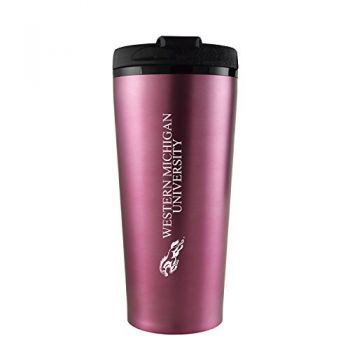 Western Michigan University-16 oz. Travel Mug Tumbler-Pink