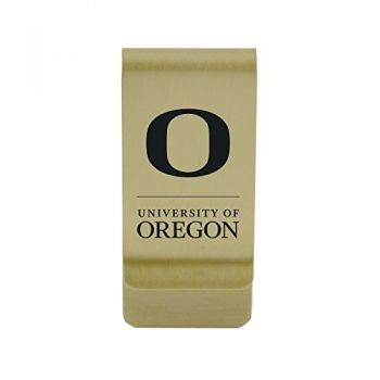 Oregon State University|Money Clip with Contemporary Metals Finish|Solid Brass|High Tension Clip to Securely Hold Cash, Cards and ID's|Silver