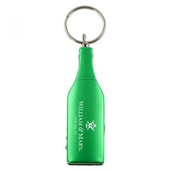 College of William & Mary-Wine Shaped Bottle Opener-Green