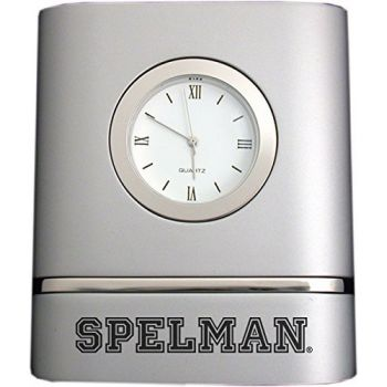 Spelman College- Two-Toned Desk Clock -Silver