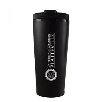 University of Wisconsin-Platteville-16 oz. Travel Mug Tumbler-Black