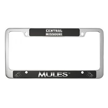 University of Central Missouri -Metal License Plate Frame-Black