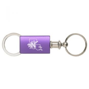 Northwestern State University - Anodized Aluminum Valet Key Tag - Purple