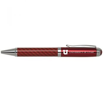 University of Utah-Carbon Fiber Ballpoint Pen-Red