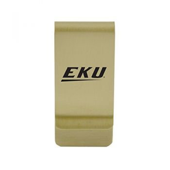 East Tennessee State University|Money Clip with Contemporary Metals Finish|Solid Brass|High Tension Clip to Securely Hold Cash, Cards and ID's|Silver