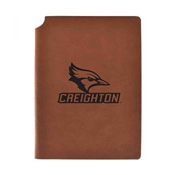 Creighton University Velour Journal with Pen Holder|Carbon Etched|Officially Licensed Collegiate Journal|